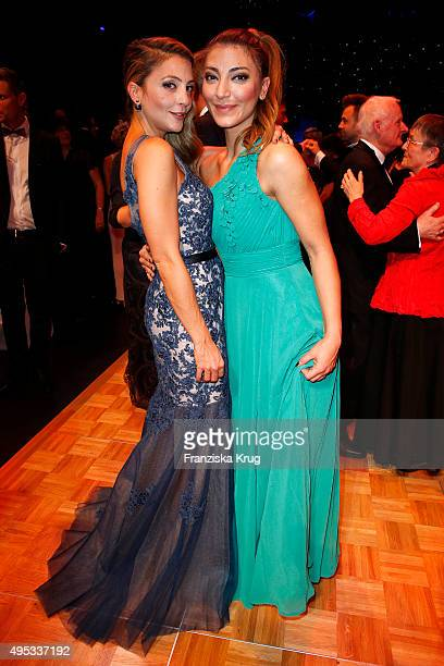 Arzu Bazman and guest attend the Leipzig Opera Ball 2015 on October 31 2015 in Leipzig Germany