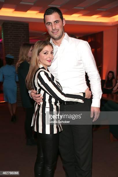 Arzu Bazman and her boyfriend Philipp during the birthday celebration of Maren Gilzer's 55th birthday on February 4 2015 in Berlin Germany Welcome...
