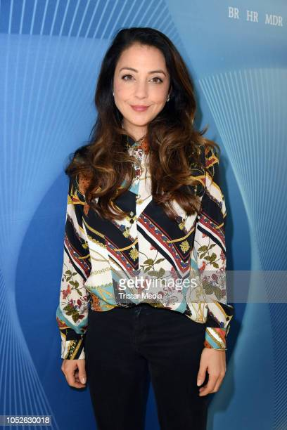 Arzu Bazman attends the ARD TV series 'In aller Freundschaft' 20 years anniversary fanfest at Media City on October 20 2018 in Leipzig Germany