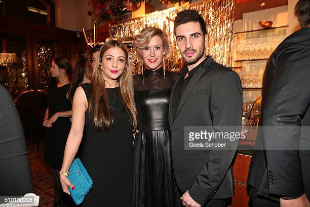 Arzu Bazman Wolke Hegenbarth and boyfriend Oliver during the Bild 'Place to B' Party at Borchardt during the 66th Berlinale International Film...