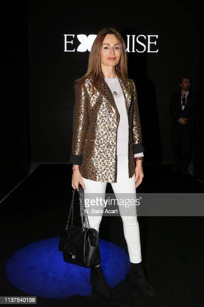 Arzu Kunt attends the Exquise show during MercedesBenz Fashion Week Istanbul March 2019 at Zorlu Center on March 22 2019 in Istanbul Turkey
