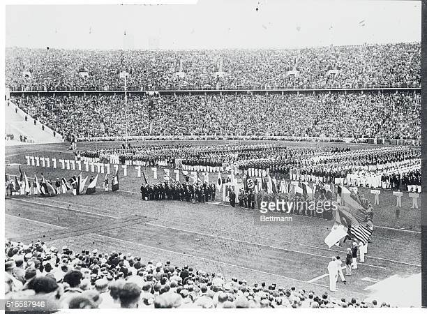 As 1936 Olympics Got Underway The impressive ceremony in he Olympic Stadium in Berlin that inaugurated the 1936 Olympic Games While 100000 spectators...