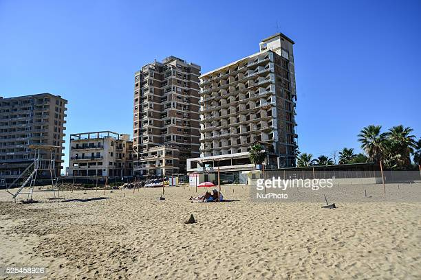 As a result of the war the Turkish troops keep the hotel city of Varosha at Famagusta as a kind of hostage on November 18, 2014. The ghost city at...