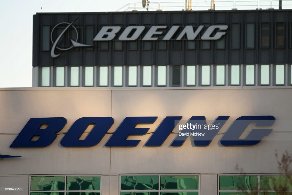 As Boeing 787 Dreamliner jets remain grounded, signage is seen on a Boeing building near Los Angeles International Airport (LAX) on January 17, 2013 in Los Angeles, California. The Federal Aviation Administration has grounded all U.S.-registered Boeing 787 Dreamliner jets for the repair of batteries believed to be linked to a fire risk following a number of related 787 aircraft incidents this month.