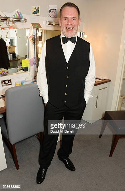 as Chris Moyles poses backstage after joining the cast of Matthew Perry's The End Of Longing in the role of Barman for one night only at Playhouse...