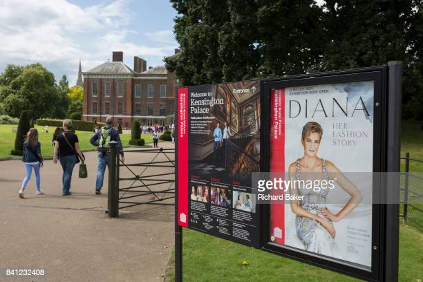 As crowds of royalist wellwishers gather a spontaneous memorial of flowers photos and memorabilia grows outside Kensington Palace the royal residence...