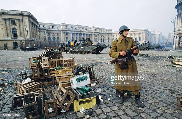 As demonstrations spread to Bucharest troops side with demonstrators while Nicolae Ceausescu and his wife flee only to be captured tried convicted...