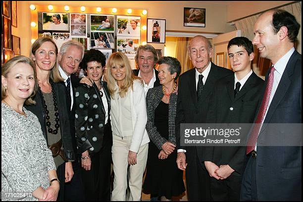 As every year Valery Giscard D'Estaing takes his family to a play for his birthday This year for his 81st birthday they are at the play with Alain...