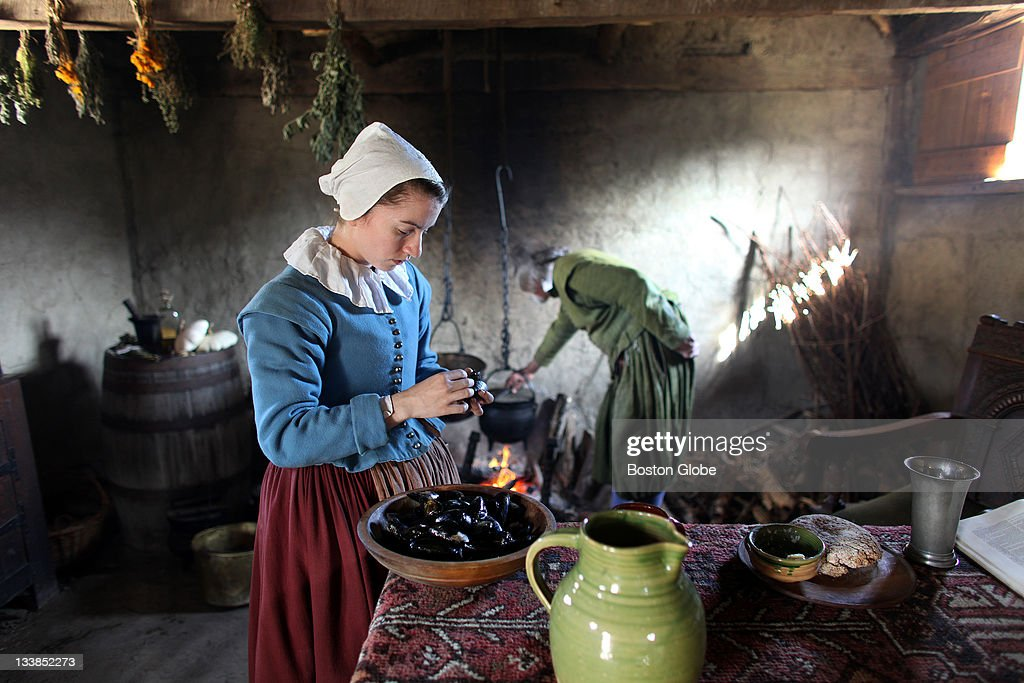 First Thanksgiving At Plimoth Plantation : News Photo