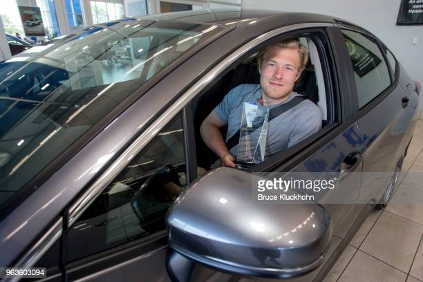 As his reward for winning the MVP of the 2018 NHL AllStar game Vancouver Canucks forward Brock Boeser picks up his Honda Clarity from the local...