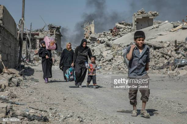 As Iraqi special operations forces enter Mosul's Old City resident flee to areas liberated from control of the Islamic State Many of the residents...