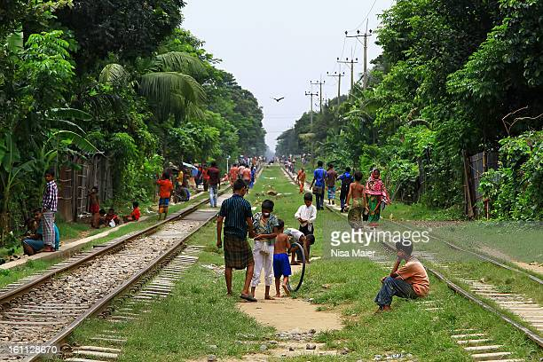 CONTENT] As long as no train is passing the tracks are the playground the way home the relaxing place the meeting ground