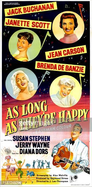 As Long As They're Happy poster US poster left from top Janette Scott Diana Dors right from top Jean Carson Brenda De Banzie Jerry Wayne 1955