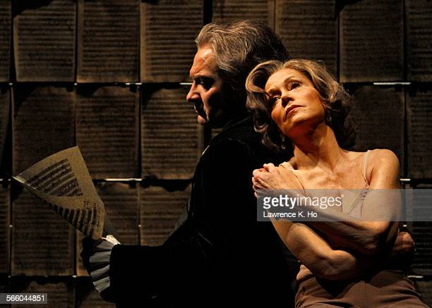 GRENIER as Ludwig Van Beethoven and JANE FONDA as Dr Katherine Brandt in a scene Set–up photos of scenes from the play 33 Variations starring Jane...