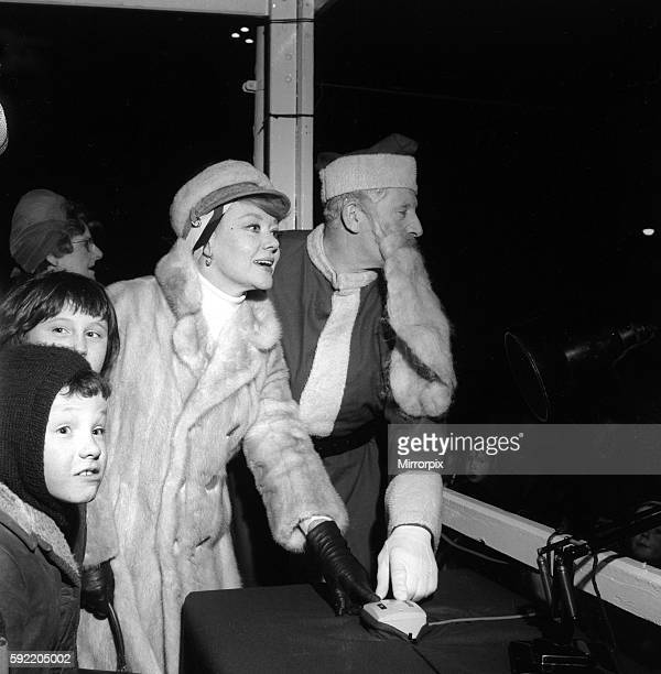 As Northumberland Police Band played about 300 excited children looked on as actress Glynis Johns who was appearing in Come As You Are at the Theatre...