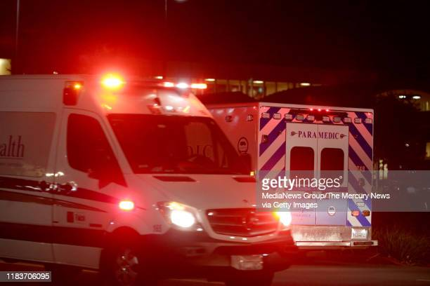 As one ambulance leaves another arrives to Sutter Santa Rosa Regional Hospital which began an orderly evacuation of patients in Santa Rosa Calif on...