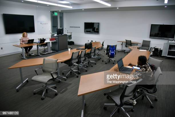 As other classmates perform mock job interviews Angelica Dunn slowly completes rounds of assessments as career skills coach Angela Baker heads the...
