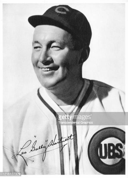 As part of a Picture Pack sold at the ballpark is this photo card of Cubs' catcher Gabby Hartnett produced in Chicago Illinois in 1939
