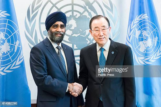 As part of Canada's bid for membership on the United Nations Security Council Canadian Minister of National Defense Harjit Sajjan met with UN...