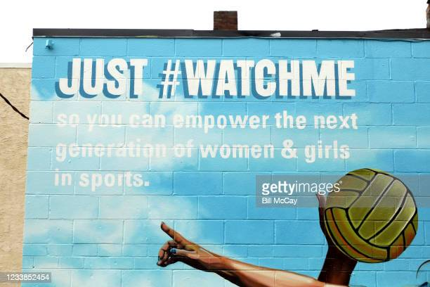 """As part of its new """"Just #WatchMe"""" campaign, Secret Deodorant partners with women athletes and artist Nicole Salgar to create murals across New York,..."""