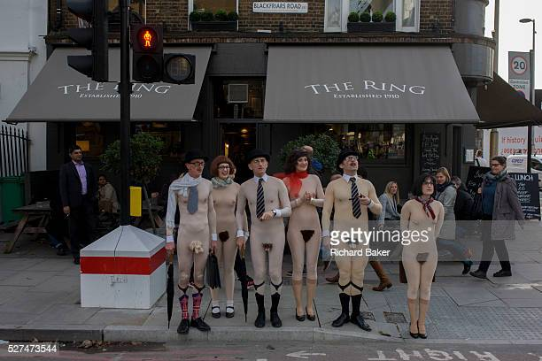 As part of London's Bankside 'Merge 2015' are street performers taking part in the arts festival located at various spots on the southern side of the...