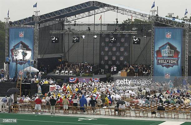 As part of Pro Football Hall of Fame's 40th Anniversary Celebration 116 members returned to the stage for the 2003 NFL Hall of Fame Induction...