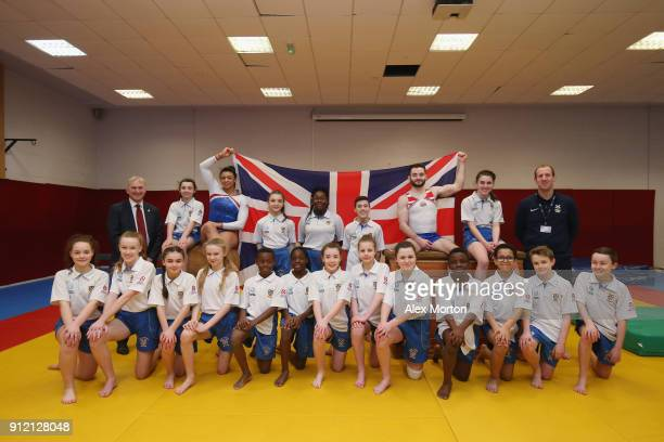 As part of the annoucement of the GB World Cup squad for the Gymnastics World Cup to be held at Arena Birmingham Councillor Ian Ward leader of...