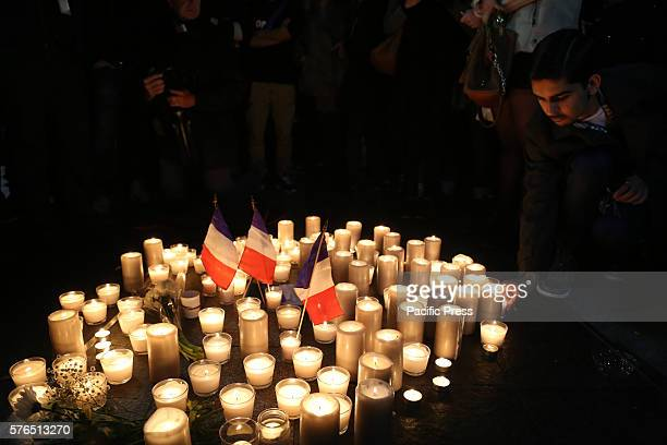 As part of the annual BBR Bastille Day French cultural festival near Circular Quay a candle lit vigil was organised for the victims of the terrorist...