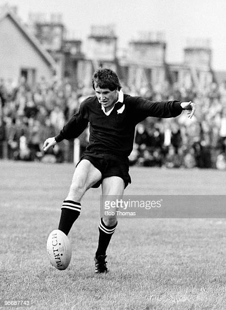 As part of the New Zealand All Blacks Rugby Union Tour of Great Britain, Robbie Deans of New Zealand is pictured in action at the Edinburgh versus...