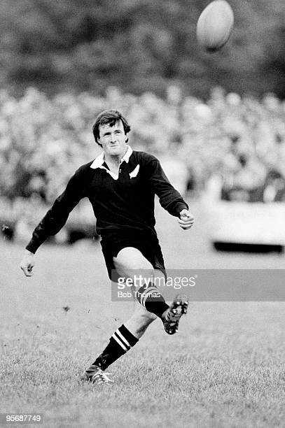 As part of the New Zealand All Blacks Rugby Union Tour of Great Britain, Kieran Crowley of New Zealand is pictured in action during the South of...