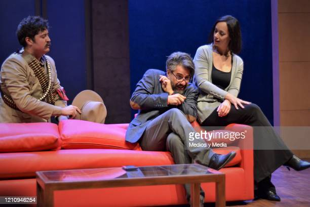 as part of the play 'Between Pancho Villa and a Naked Woman' at Rafael Solana Theatre on March 6 2020 in Mexico City Mexico
