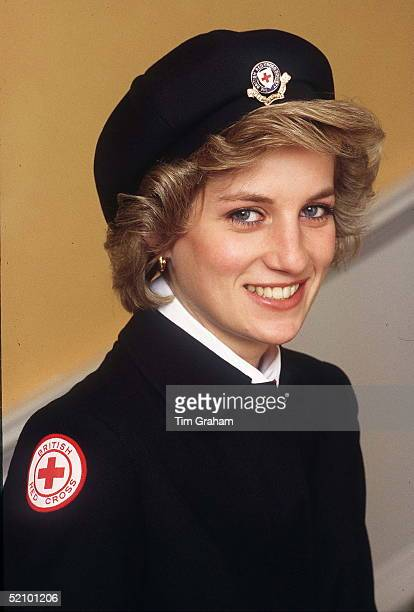 As Patron For The British Red Cross Youth Princess Diana Poses In Full Uniform
