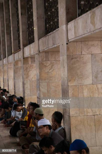 As ramadhan near to end people still held activity breaking fasting together at Istiqlal Mosque in Jakarta Indonesia on 24 June 2017 Indonesian...