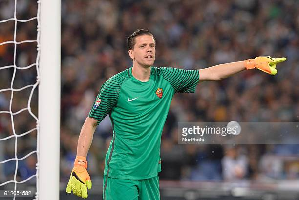As Roma goalkeeper Wojciech Szczesny during the Italian Serie A football match between AS Roma and FC Inter at the Olympic Stadium in Rome on october...