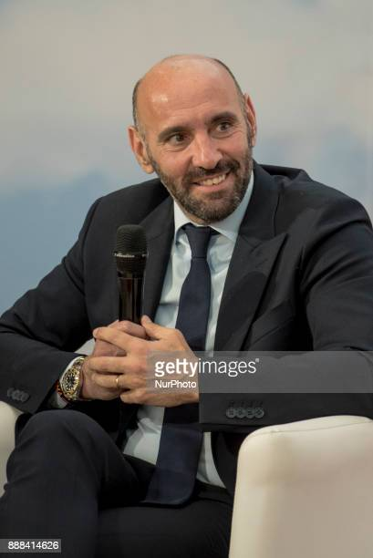 As Roma sports manager Ramon Monchi talks during the presentation of the book written by Daniel Pinilla quotMonchi The secrets of King Midas of world...