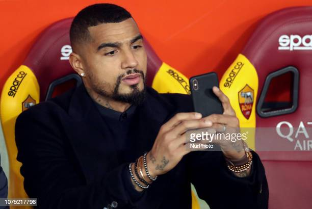 As Roma v Us Sassuolo Serie A KevinPrince Boateng of Sassuolo injured in the bench at Olimpico Stadium in Rome Italy on December 26 2018