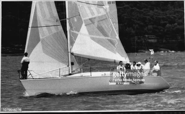 "As Sailing Boats Star Ocean Race Through Heads.The start of the Mooloolaraba yacht race.""Queensland Maid"". April 3, 1990. ."