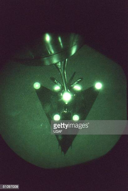 As Scene With A Night Vision Scope An F117 Nighthawk Refuels From A Kc135R Stratotanker March 27 In Support Of Nato Operation Allied Force