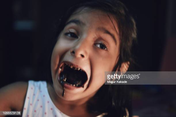 """As she enjoys the Cake """"Death by Chocolate"""""""
