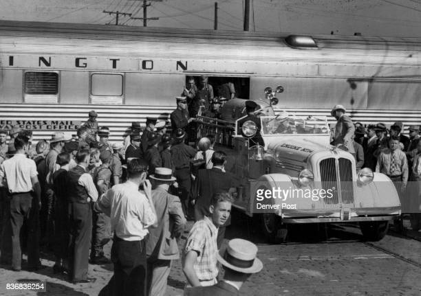 As Shirley's lungs expanded in the gentle pressure of the wooden box an elaborate iron lung of the latest type arrived on the Burlington Zephyr from...
