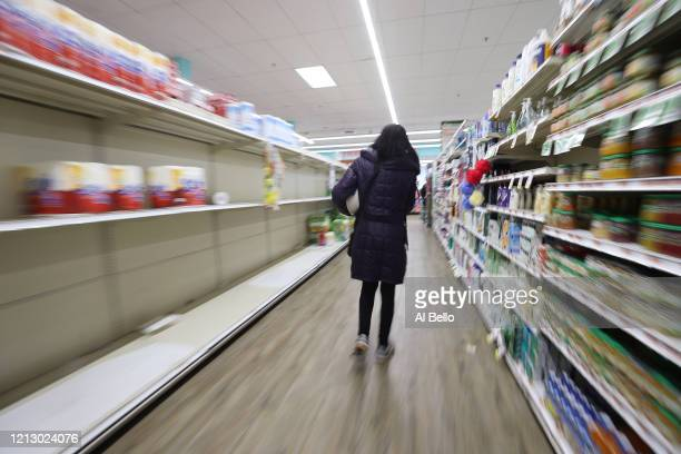 As the coronavirus continues to spread across the United States, stores like Best Market had problems keeping up with the high demand for paper goods...