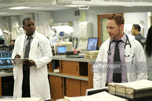 ER 'As the Day She Was Born' Episode 15 Aired Pictured Mekhi Phifer as Dr Gregory Pratt Scott Grimes as Dr Archie Morris Photo By Kelsey McNeal/NBCU...