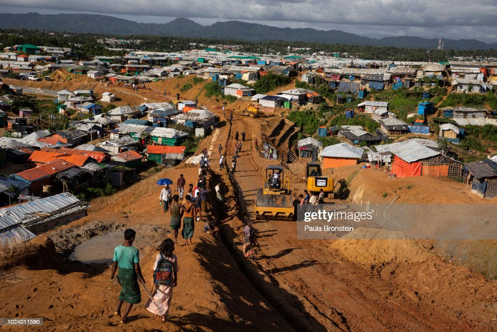 Rohingya Refugees Mark One Year Since The Crisis : Fotografía de noticias