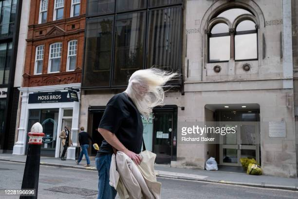 As the Met Office issued alerts for very strong winds across southern England and Wales a weather system named Storm Francis a middleaged man's white...