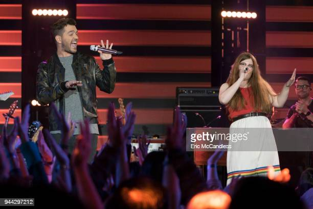 IDOL '110 ' As the pool has been narrowed to the top 24 contestants 12 of the top 24 finalists perform duets with celebrity partners at Academy LA in...