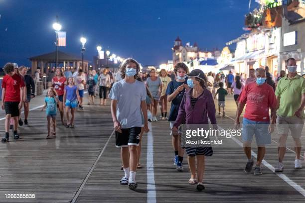 As the state of New Jersey continues Stage 2 of re-opening following restrictions imposed to slow the spread of coronavirus on August 14, 2020 in...