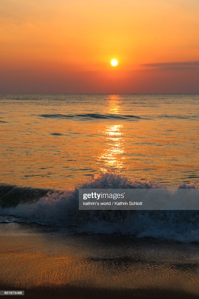 as the sun goes down : Stock Photo