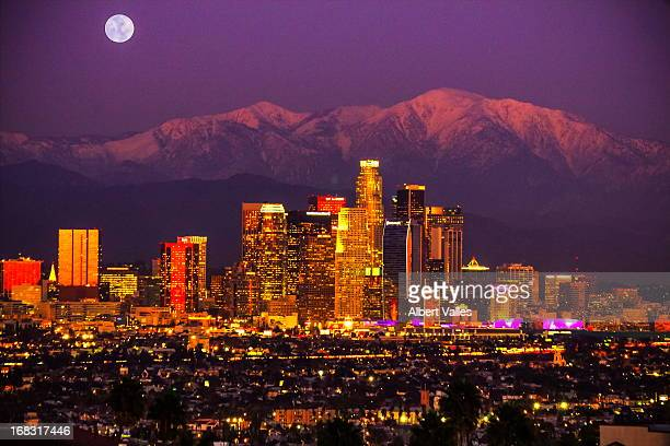 as the sun sets, the mood rises - san gabriel mountains stock pictures, royalty-free photos & images