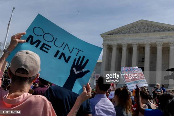 As the Supreme Court justices hear oral arguments over the 2020 census citizenship question, protesters have gathered outside the building in support...