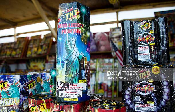 As the US Independence Day holiday approaches fireworks rest on the counter for sale at a stand in Washington on July 3 2012 AFP PHOTO/Jim Watson